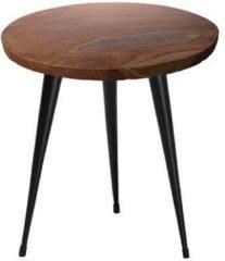 Beliani DETAH - Bijzettafel voor binnen - Donkere houtkleur - Teakhout