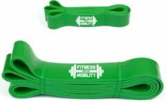 CKB Weerstandsband Groen Pull Ups - 208cm - 55kg - 4.5cm breed - Fitness - Elastiek weerstandsband - Weerstandskabel - Resistance Power Band Tube - Fitnessbanden