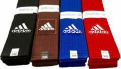 Adidas judoband Elite blauw maat 260 cm