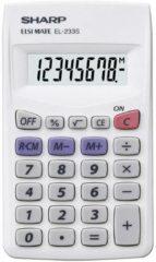 Zakrekenmachine Sharp EL-233 S Wit Aantal displayposities: 8 werkt op batterijen (b x h x d) 62 x 8 x 105 mm