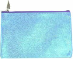 Lichtblauwe Rimmel London Rimmel Small Blue Mermaid Toilettas met Rits - 10 x 15 cm
