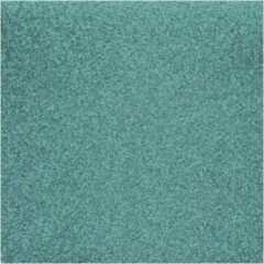 Rayher hobby materialen 5x stuks turquoise blauw glitter papier vellen 30.5 x 30.5 cmm - Hobby scrapbooking artikelen