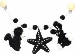Naturezoo Kinderwagenspanner (stinkdier, Zeester, Konijn) Gehaakt 40 Cm Multicolor