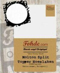 Witte Fohde Topdek Split waterdichte molton hoeslaken 180 x 210 cm