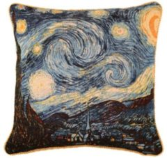 Blauwe Gobelin tassen Signare Kussenhoes - Gobelin - Vincent van Gogh - Kunst - Sterrennacht - Starry Night - 45 cm