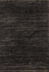 Antraciet-grijze Impression Rugs Design Collection Loft Effen Antraciet vloerkleed Laagpolig - 200x290 CM