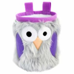 Crafty Climbing - Owl Chalk Bag - Pofzakje grijs/roze/wit