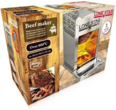 MaxiMondo Lone Star hoge temperatuur grill - gas BBQ 'beef maker' - 800 - 870°C - RVS - 1.0 mm injector