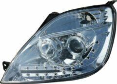 Universeel Set Koplampen DRL-Look Ford Fiesta VI 2002-2008 - Chroom - incl. Motor
