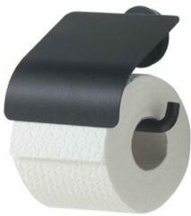 Zwarte Tiger Urban Toiletrolhouder met klep zwart 1316630746