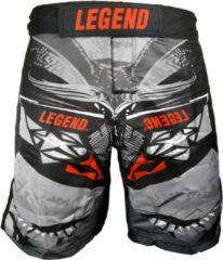 Legend Sports Kickboksshort Spartan Mma Unisex Grijs Maat Xl