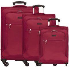 Travel Line 6400 4-Rollen Kofferset 3tlg. D&N bordeaux