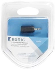 Zwarte König 2.5 mm audio adapter 2.5 mm male - 3.5 mm female 1 pc grey