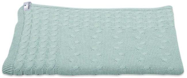 Afbeelding van Groene Baby's Only Kabel Uni wiegdeken 75x90 cm mint