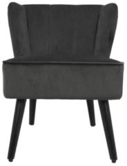 HSM Collection Cocktail chair Estelle - velours - donkergrijs