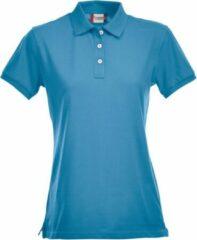 Clique Premium dames polo turquoise m