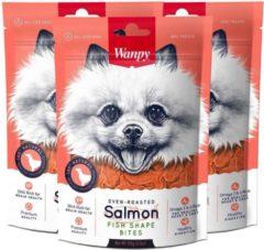 Wanpy | Salmon Fish Shape Bites | Voordeelbundel van 3 zakjes | Hondensnack