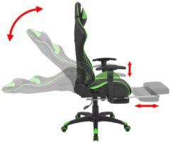 VidaXL Bureau-/gamestoel verstelbaar met voetensteun Xtreme groen