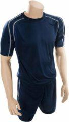 Marineblauwe Precision Voetbalshirt- En Broek Lyon Junior Navy/wit Maat Xxs