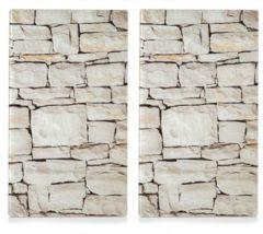 Zeller Present Herdabdeck-/Schneideplatten »Stone«, 2-er Set, 30 x 52 cm