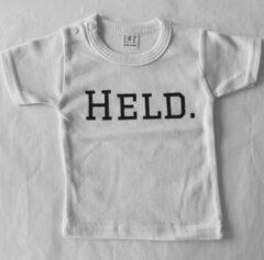 Babybugz Baby t-shirt - Held - Wit - 0 maanden