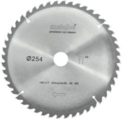 "Metabo ZAAGBLAD ""PRECISION CUT WOOD - CLASSIC"", 254X30, Z48 WZ 5°NEG. (628061000)"
