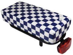 Hooodie Bagagedragerkussen BIG Cushie Navy Checker