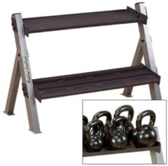Body-Solid Dual Dumbbell&Kettlebell Rack
