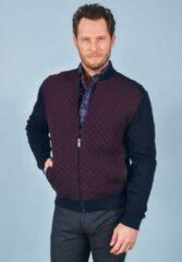 Donkerrode GCM Vest wijnrood met donkerblauw maat XL