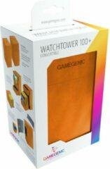 Trading Card Game TCG Deckbox Watchtower 100+ - Orange DECKBOX