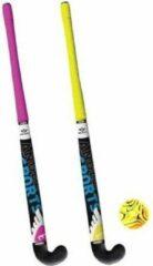 Roze Angel sports Streethockey set van 2 sticks 84 cm met bal