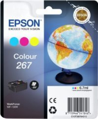 Epson Ink T2670, 267 Original Cyan, Magenta, Yellow C13T26704010