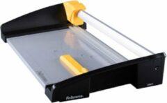 Gele Fellowes papiersnijder rolsnijmachine Atom A3 snijdt tot 30 vel