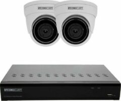 Witte Sitcon | Full HD UTP (2X) Dome camera set - Easy - met POE NVR recorder