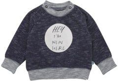 Blauwe Minymo Baby shirt Baby shirt Baby T-shirt Maat 68