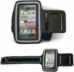 Zwarte RRshop Huismerk Sportarmband iPhone 5 / 5S / 5C hardloop sport armband / met reflectie