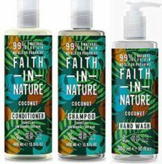 Faith in nature coconut shampoo, conditioner en handwash
