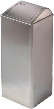 Afbeelding van Roestvrijstalen GEBOO Roestvrijstaal Mediclinics afvalbak gesloten 80 liter RVS