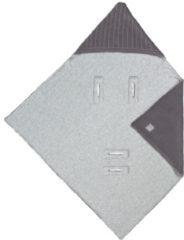 Antraciet-grijze Lässig Wikkeldeken Voor Autostoel Knitted Blanket Antraciet