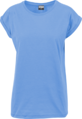 Urban Classics Ladies Extended Shoulder Tee Maglia donna blu