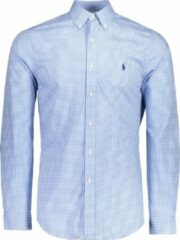Polo Ralph Lauren Overhemd Blauw Getailleerd - Maat L - Heren - Never out of stock Collectie - Katoen