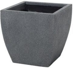 Antraciet-grijze Beliani Bloempot grijs vierkant 39x39x38 cm ORICOS