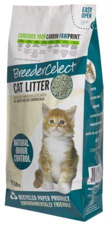 Afbeelding van Breedercelect Kattenbakvulling 100 Procent Recycled - Kattenbakvulling - 30 l