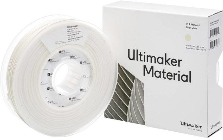 Afbeelding van Ultimaker PLA - M0751 Pearl White 750 - 211399 Filament PLA kunststof 2.85 mm 750 g Pearl White