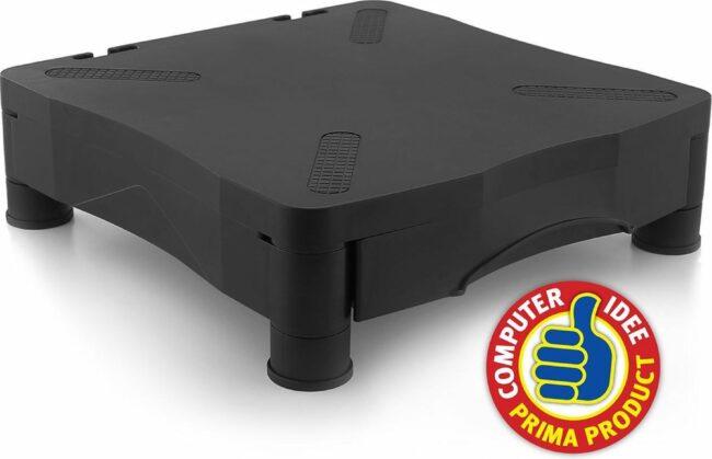 Afbeelding van Ewent Monitorstandaard, Riser, in hoogte verstelbaar, tot 27kg, met lade, zwart