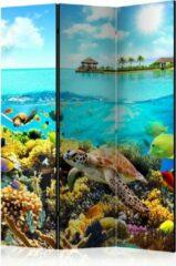 Kamerscherm - Scheidingswand - Vouwscherm - Heavenly Maldive [Room Dividers] 135x172 - Artgeist Vouwscherm