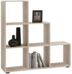 FD Furniture Open boekenkast Mega 6 - Eiken