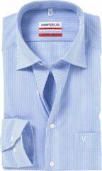 MARVELIS Modern Fit overhemd - blauw / wit gestreept - Strijkvrij - Boordmaat: 42