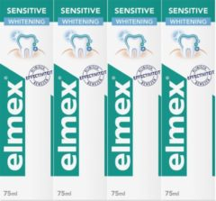 Elmex Sensitive Whitening Tandpasta 4 x 75ml - Voordeelverpakking