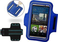 Blauw Universele Spatwaterdichte Sportarmband voor Huawei P8 P9 P10 Lite en Sony Xperia XZ XZs XA Z5 en HTC 10 one M9 - Hardloop 5.5 inch Sport Armband (Apple iPhone, Samsung, LG) - Waterproof / Waterdichte Case / Hoesje